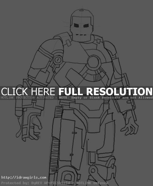 How to draw Iron Man Mk 1