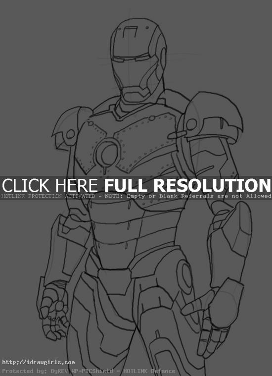 How to draw Iron Man Mk 2