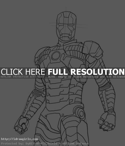 How to draw Iron Man Mk 5
