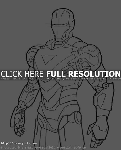 ironman mark06 How to draw Iron Man