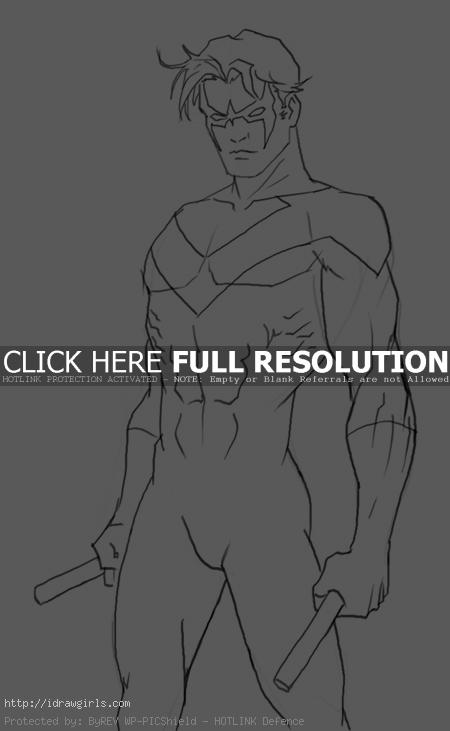 nightwing How to draw Nightwing