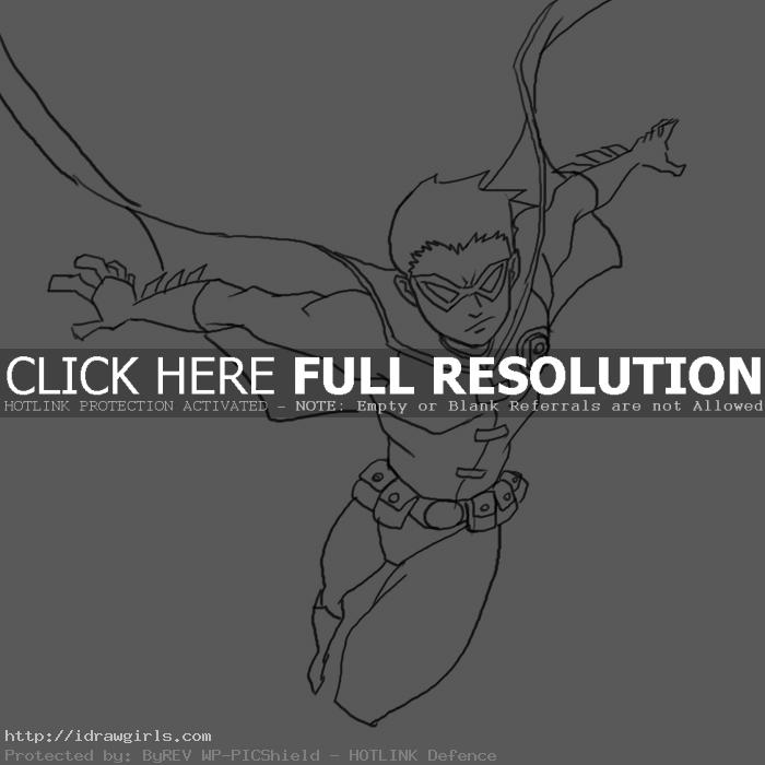 robin tim drake How to draw Robin
