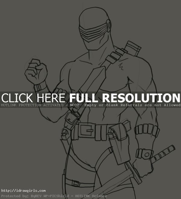 How to draw Snake Eyes