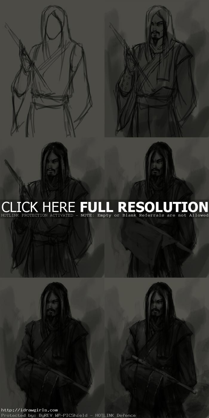 concept art tutorial drawing Huang Yaoshi