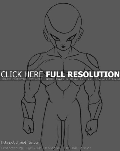 frieza 3 How to draw Frieza form 3