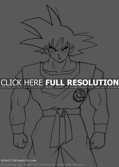goku How to draw Goku