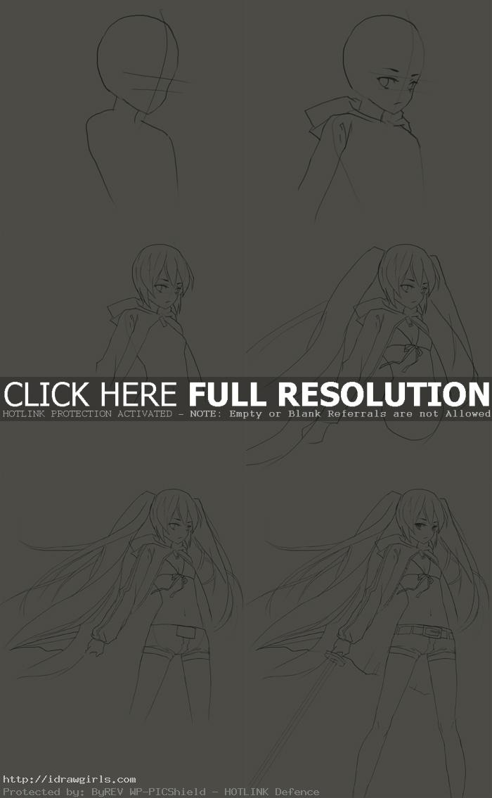 how to draw Black Rock Shooter