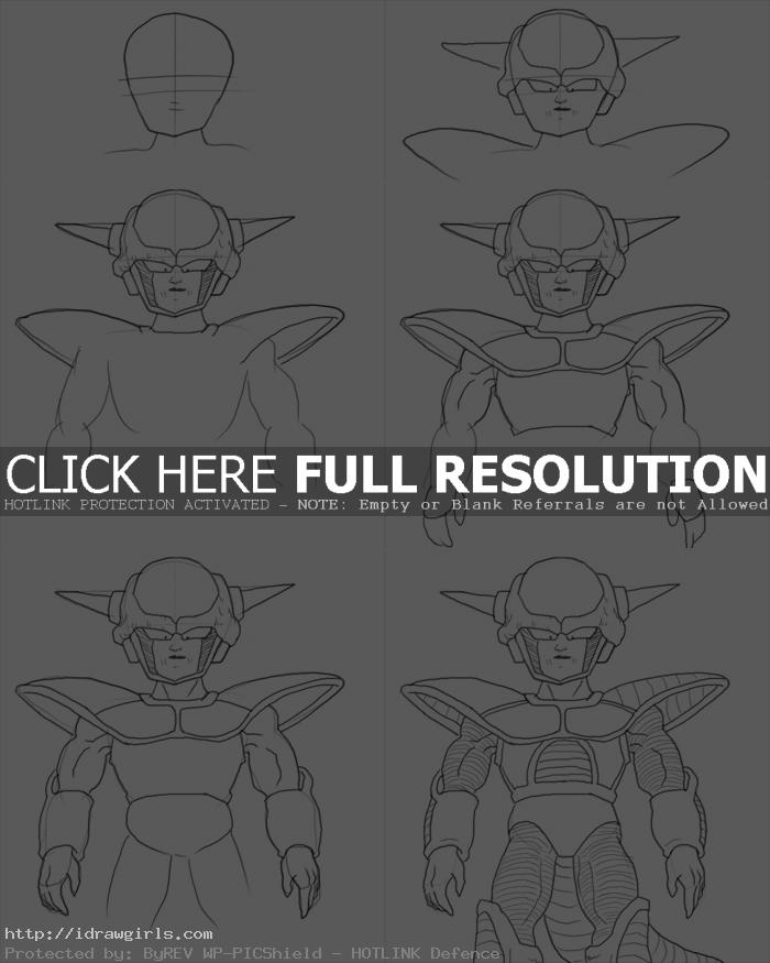 How to draw Frieza