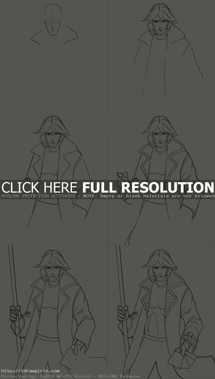 how to draw Gambit