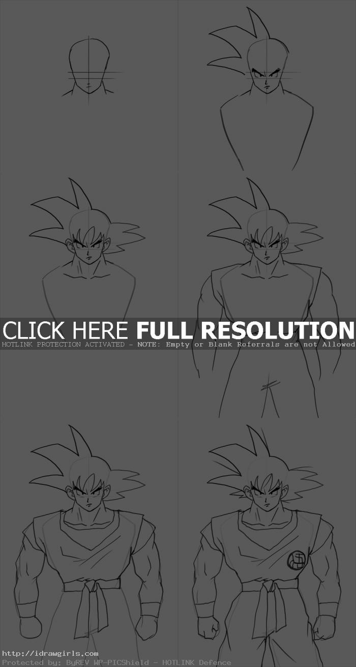 how to draw goku How to draw Goku