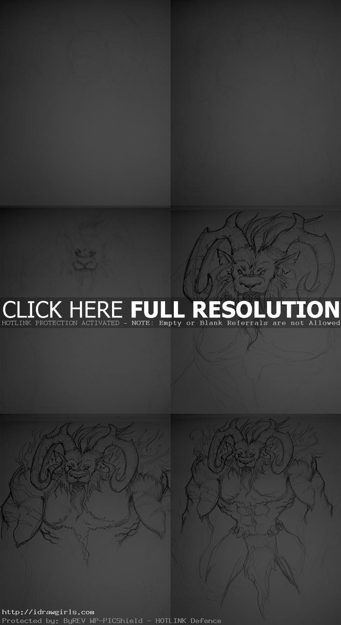 How to draw Ifrit