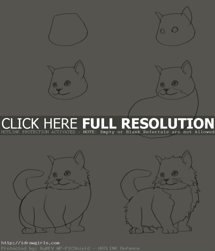 how to draw kitten How to draw kitten