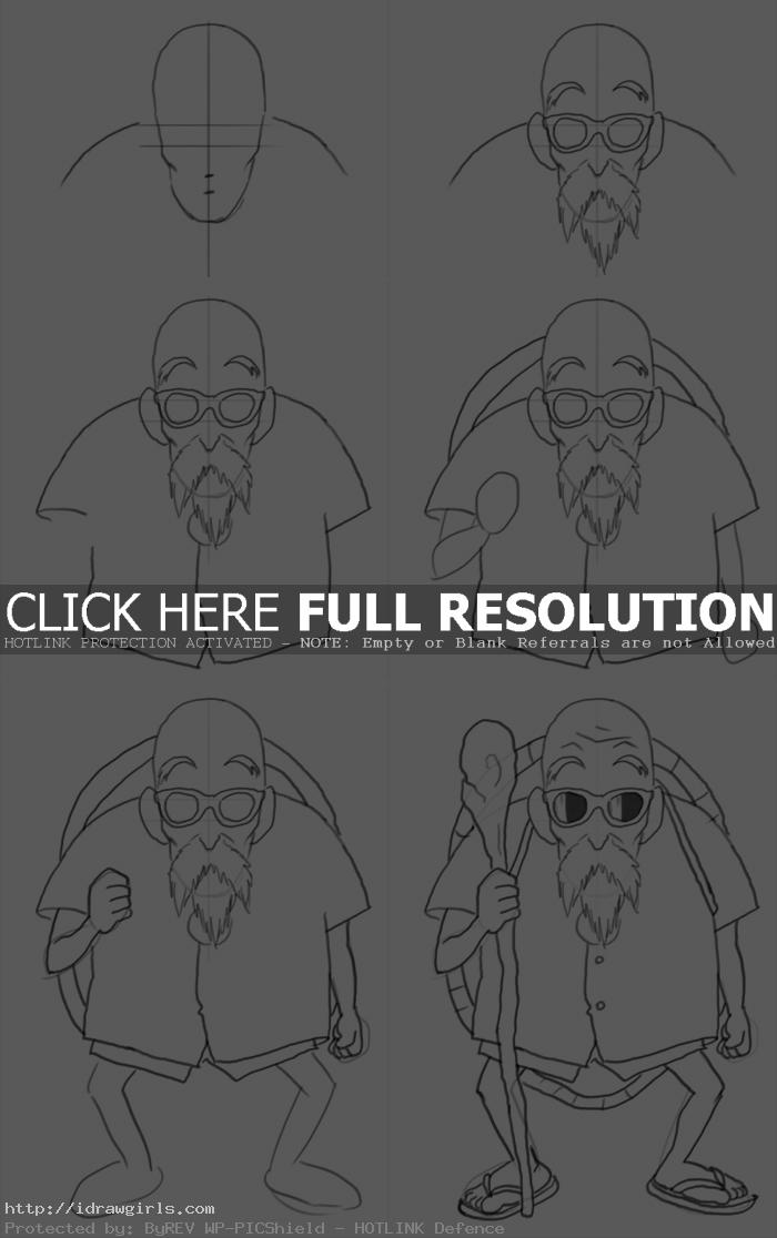 how to draw master roshi How to draw master Roshi