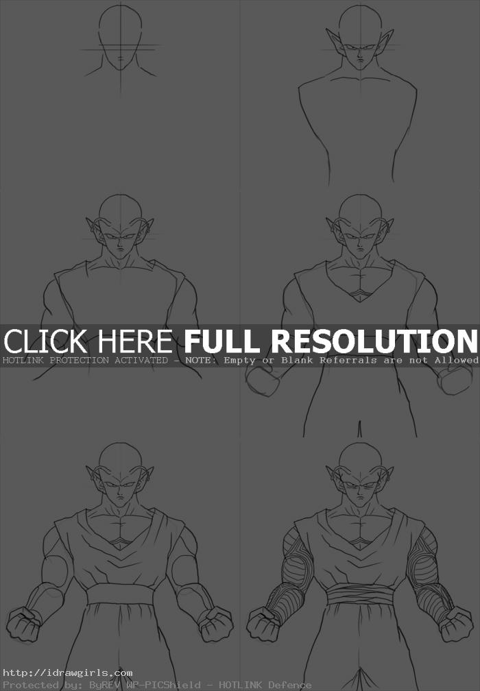 how to draw piccolo How to draw Piccolo