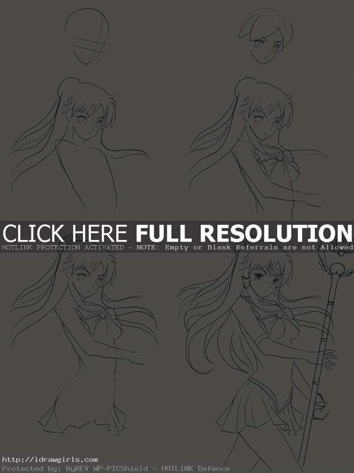how to draw sailor pluto How to draw Sailor Pluto