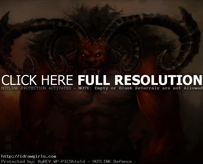 ifrit concept Photoshop digital painting process Ifrit
