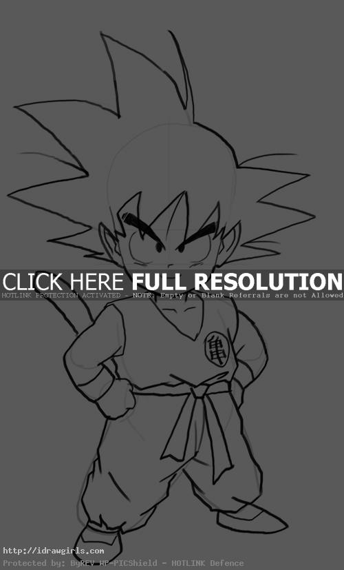 kid goku How to draw kid Goku