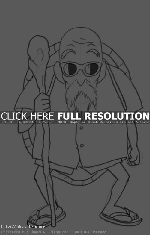 master roshi How to draw master Roshi