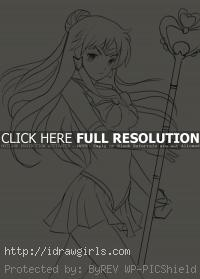 Sailor Pluto Anime drawing