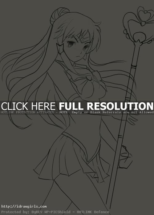 sailor pluto How to draw Sailor Pluto