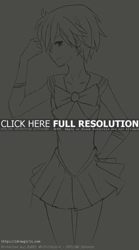 How to draw Sailor Uranus