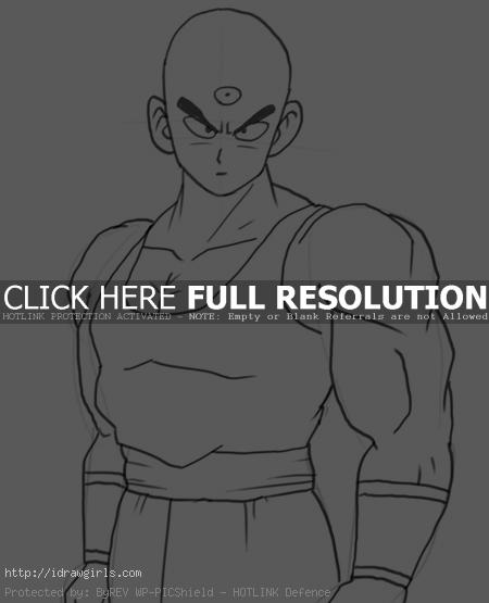 tien shinhan How to draw Tien Shinhan