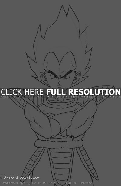 vegeta How to draw Vegeta