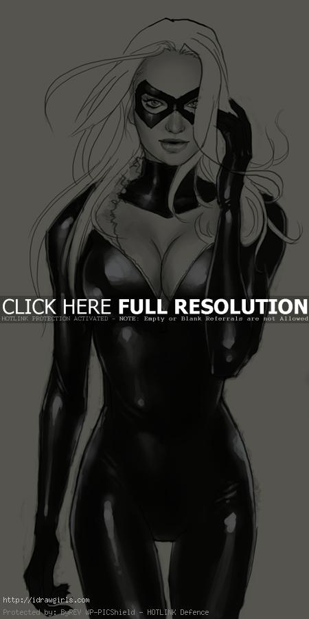 Blackcat drawing comics