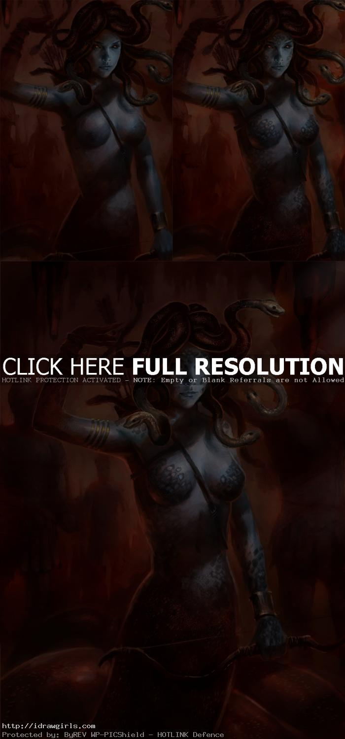 digital painting tutorial medusa concept step 2 Photoshop painting tutorial Medusa concept art