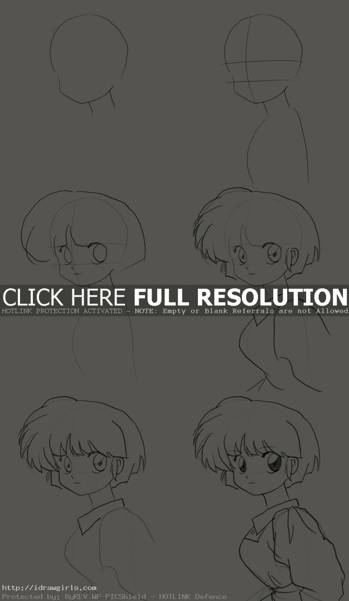 how to draw akane tendo How to draw Akane Tendo