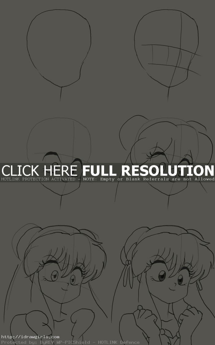 How to draw Shampoo from Ranma 1/2