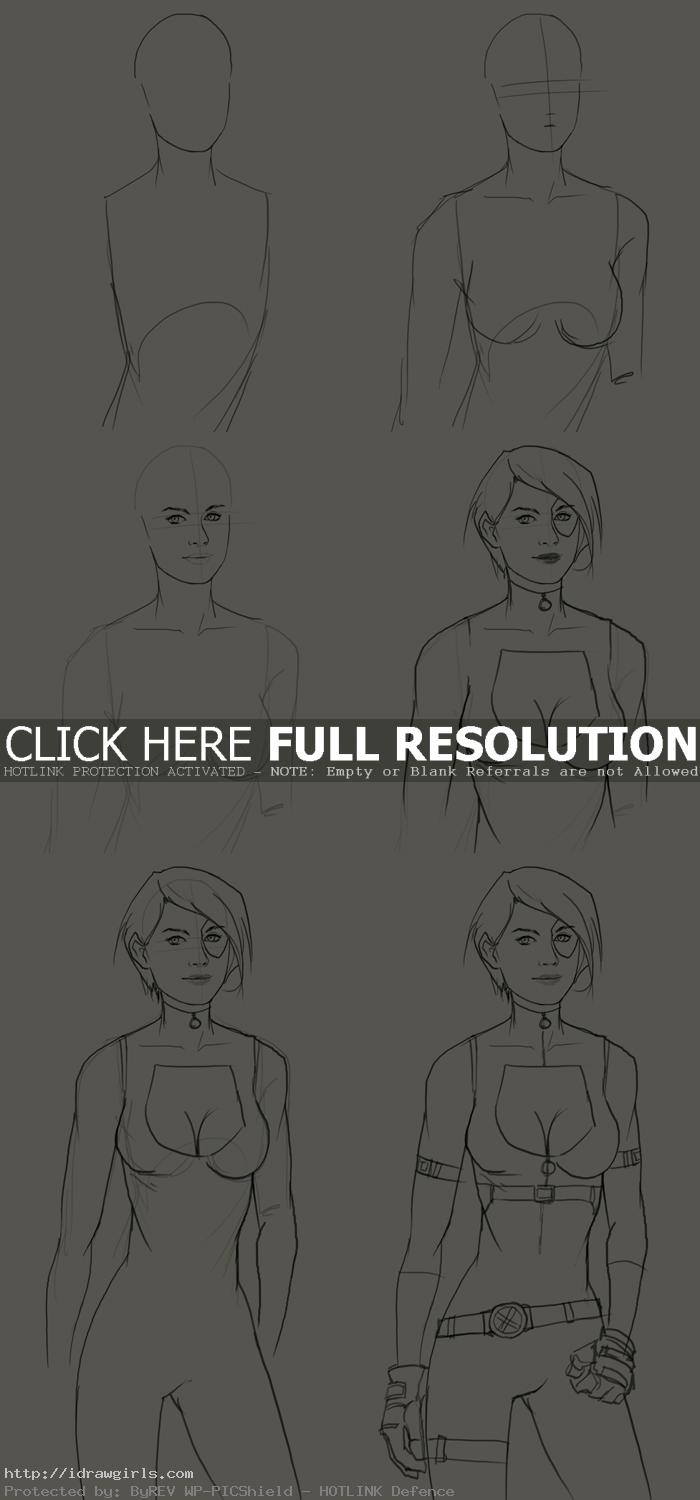 how to draw domino marvel How to draw Domino