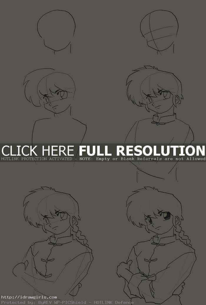 how to draw ranma How to draw Ranma