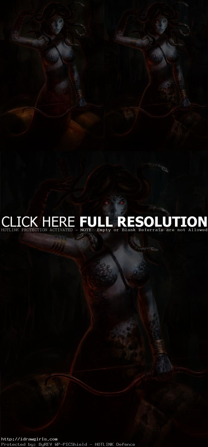 Photoshop painting tutorial Medusa concept art