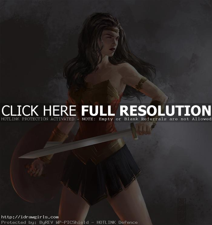 wonder woman painting tutorial wip