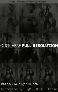 Thumbnails and comps for concept art