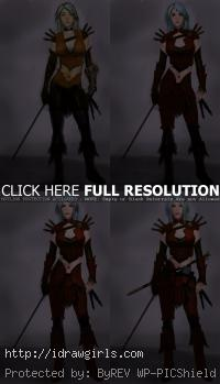 concept art tutorial rogue elf character