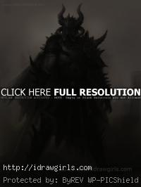 dark warrior character concept art
