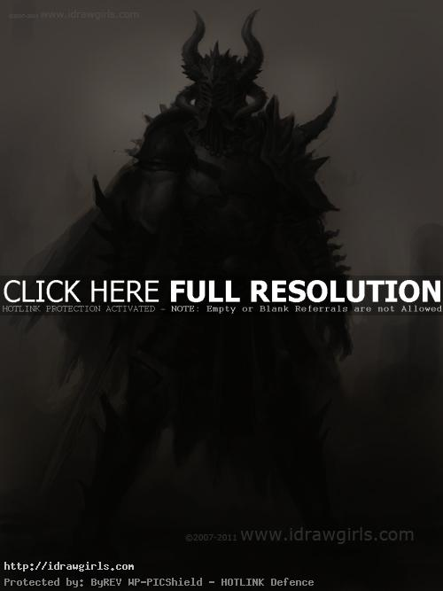 dark warrior character concept art Warrior in armor character design tutorial