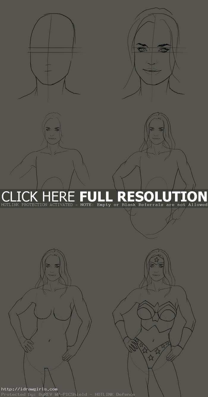 how to draw wonder woman How to draw Wonder Woman