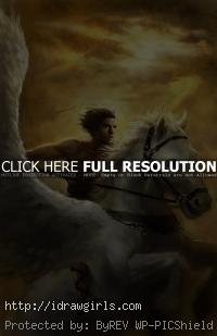 Perseus and Pegasus character art