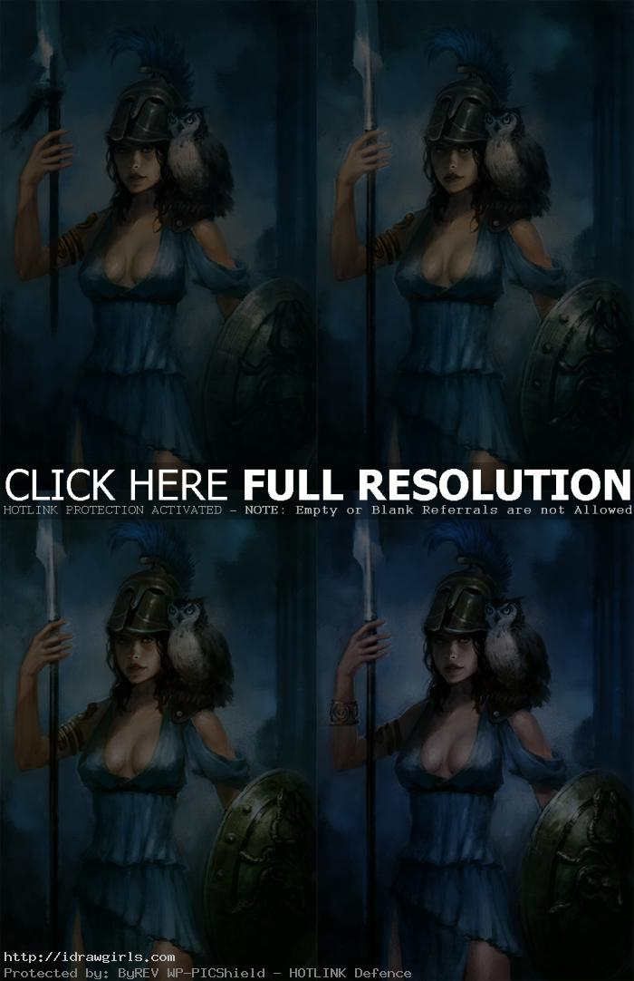 photoshop character painting tutorial Athena