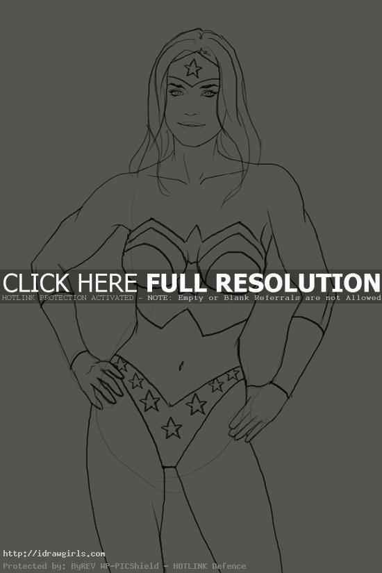 wonder woman How to draw Wonder Woman