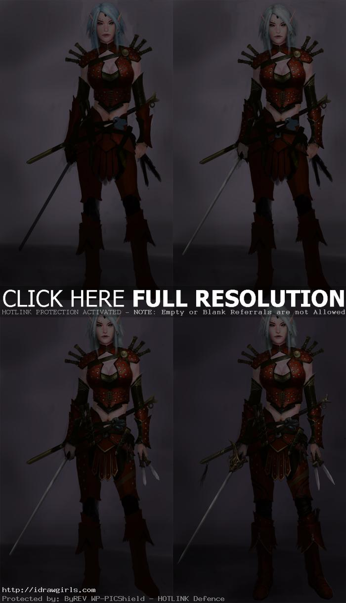 Photoshop painting process rogue elf part 2