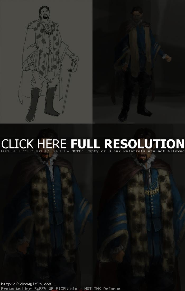 digital painting tutorial noble man character