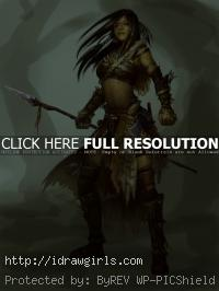 painting tutorial female hunter chief