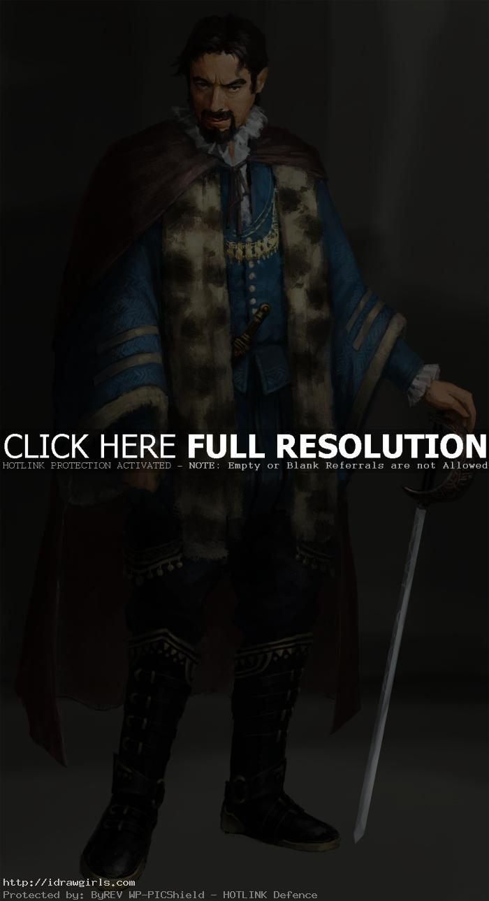 Digital painting tutorial noble man