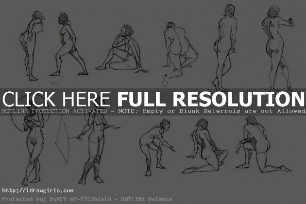 gesture003 630x420 Drawing male and female body tips and technique