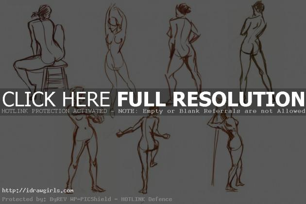 gesture005 630x420 Drawing male and female body tips and technique