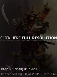 samurai general concept art